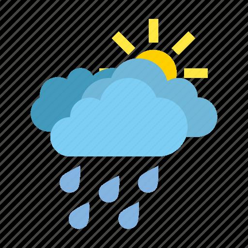 clouds, heavy, rain, weather icon