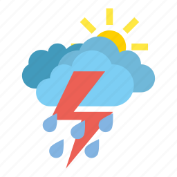 clouds, heavy, rain, storm, weather icon