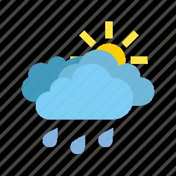 clouds, heavy, medium, rain, weather icon
