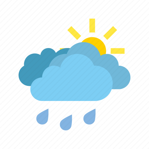 clouds, heavy, medium, rain, weather icon