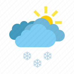 clouds, heavy, snow, weather icon