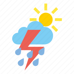clouds, heavy, light, rain, storm, weather icon