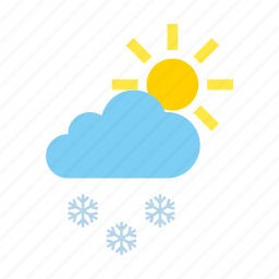 clouds, light, snow, weather icon