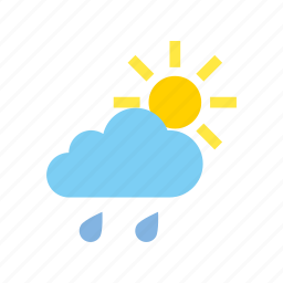cloudy, light, rain, weather icon