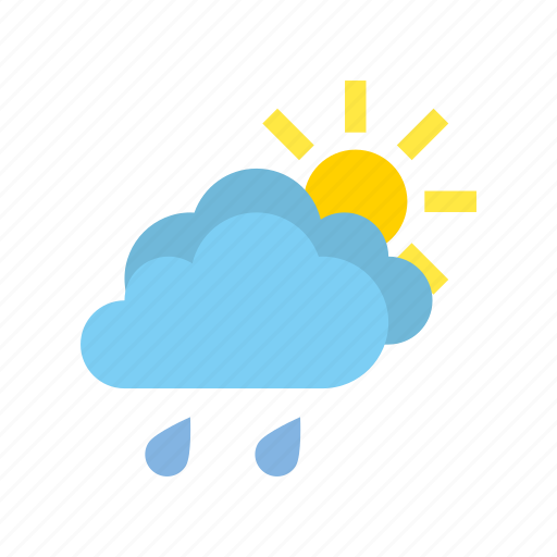 clear, light, medium, rain, weather icon