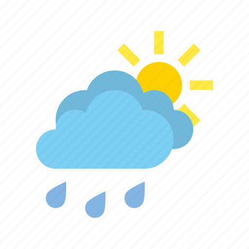 clear, medium, rain, weather icon
