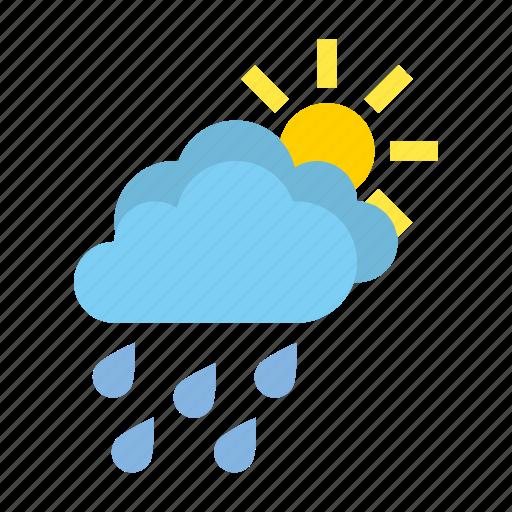 cloudy, heavy, medium, rain, weather icon