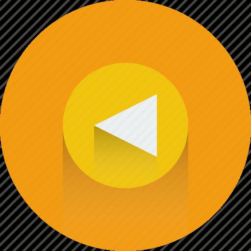 arrow, arrows, back, backward icon, music, player icon icon