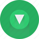 arrow, arrows, down, download, download icon, green icon