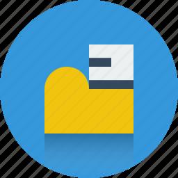 doc, docs, file, folder, open file, open folder icon