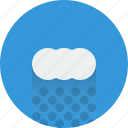 cloud, cloudy, rain, rainy, water, weather icon icon