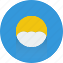 cloud, cloudy, sun, sunny, weather icon icon