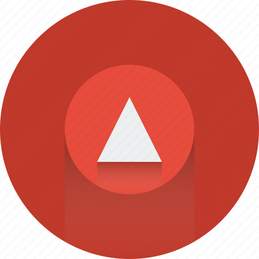 arrow, arrows, red, up, upload, upload icon icon