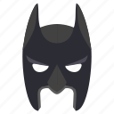 batman, dark, face, hero, knight, mask icon