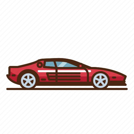 Car Ferrari Testarossa Icon Download On Iconfinder