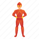 costume, grunge, red, superhero, man