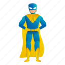 blue, child, person, superhero, yellow