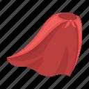 accessory, attribute, cape, clothes, raincoat, superhero icon