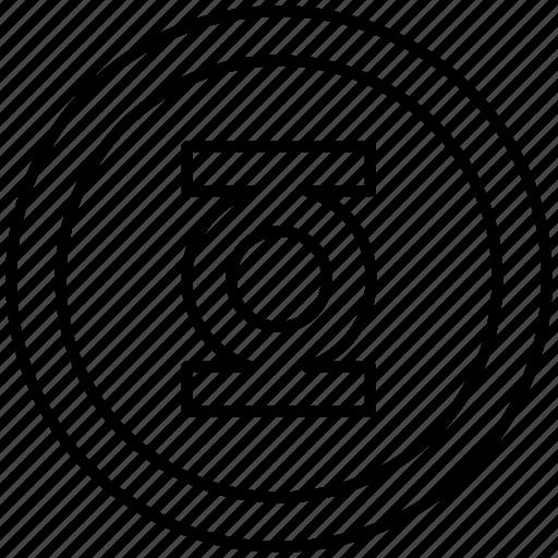 emblem, green, lantern, sign, superhero icon