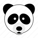 animal, bamboo, bear, face, happy, panda, zoo
