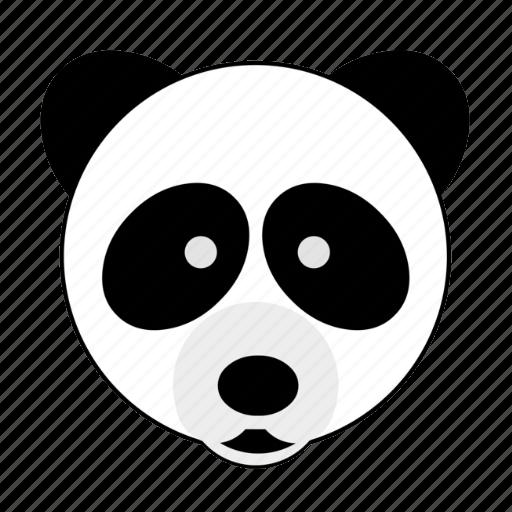 animal, bamboo, bear, face, happy, panda, zoo icon
