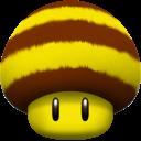 bee, mushroom icon