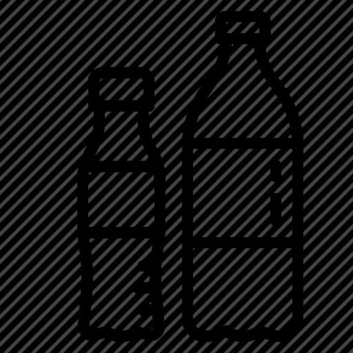 bottle, drinking, plastic, soda, sparkling icon