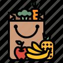 bag, bakery, bread, shopping, supermarket icon