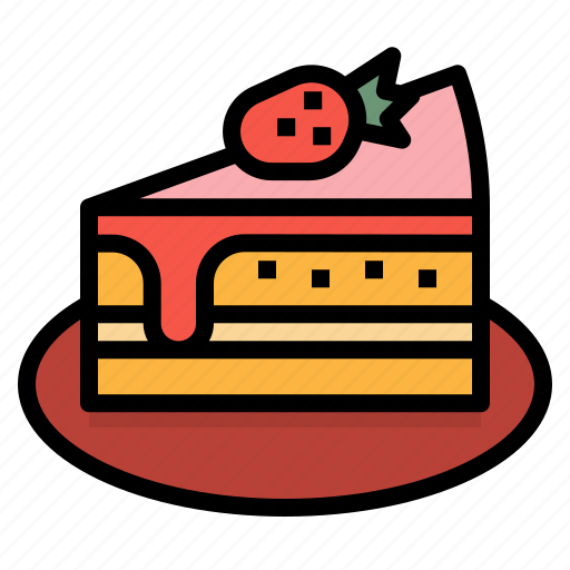 cake, dessert, food, piece, sweet icon