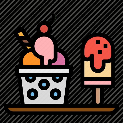 cream, dessert, frozen, ice, icecream icon