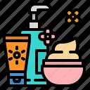 care, cosmetic, cosmetics, cream, lotion icon