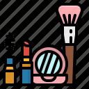 beauty, brush, cosmetic, fashion, makeup icon