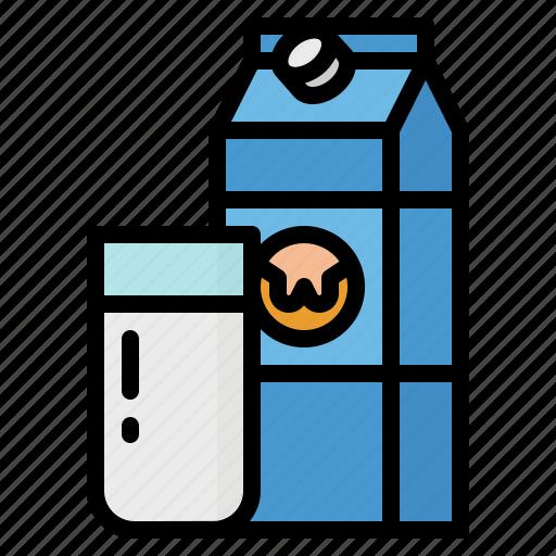 bottle, breakfast, drink, healthy, milk icon