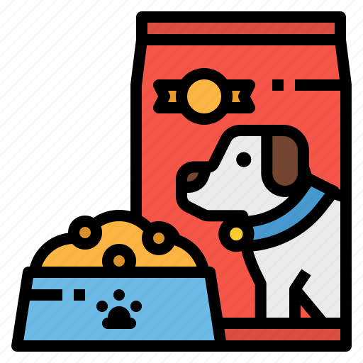 dog, feed, food, meat, pet icon