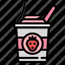 cream, dessert, ice, sweet, yogurt icon