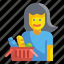 buyer, cart, consumer, customer, shopper, shoppping, woman