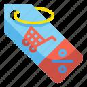 discount, label, percent, price, sales, tag, ticket icon