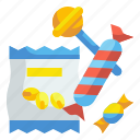candies, dessert, food, snack, sugar, sweet, taffy icon