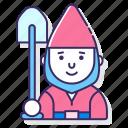 creature, dwarf, gnome, mustache icon