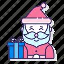 christmas, clause, gift, santa, xmas icon