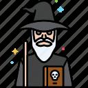 magic, sorcerer, supernatural, wizard icon