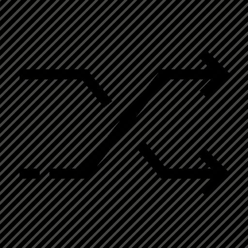 arrows, cross, shuffle icon icon