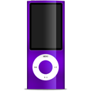 ipod, nano, purple icon