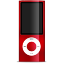 ipod, nano, red icon