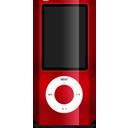 ipod, nano, red
