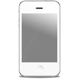 apple, front, iphone, white icon
