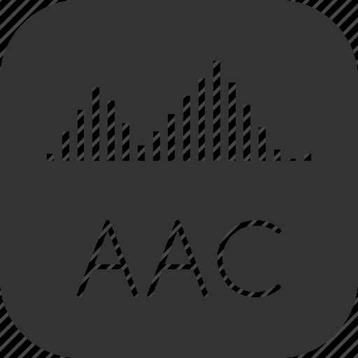 aac, audio, sound, voice icon