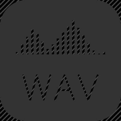 audio, sound, voice, wav icon