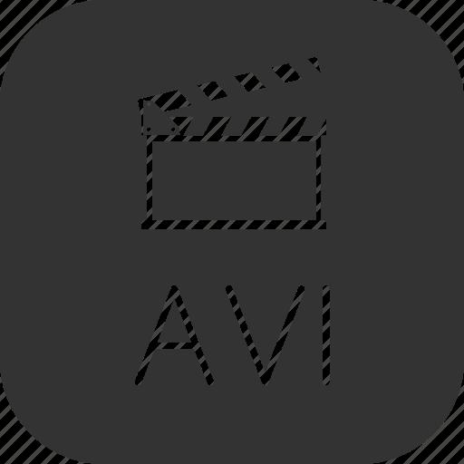 avi, clip, movie, video icon
