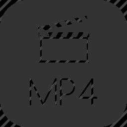 clip, movie, mp4, video icon